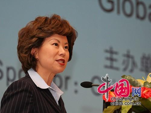 美国前劳工部部长赵小兰女士发言