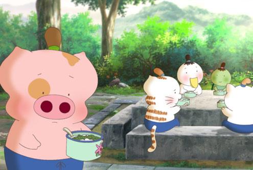 图:《麦兜响当当》精彩剧照 麦兜吃中餐