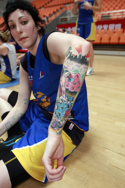 澳洲女篮朋克美女纹身绚丽