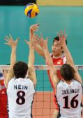 图文:世界男排联赛中国3-2美国 对手严密封锁