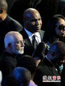 图:杰克逊公众悼念仪式-泰森