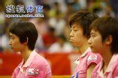 图文:张怡宁失分北京3-1辽宁 张怡宁有点困了