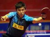 图文:乒超八一男团3-2江苏 陈玘反拍回球