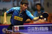图文:乒超八一男团3-2江苏 陈玘在比赛中