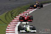 图文:F1德国大奖赛正赛 弯道追逐战