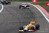 图文:F1德国大奖赛正赛 皮奎特在比赛中