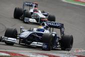 图文:F1德国大奖赛正赛 罗斯伯格在比赛中
