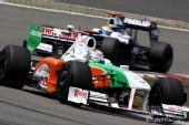 图文:F1德国大奖赛正赛 苏蒂尔在比赛