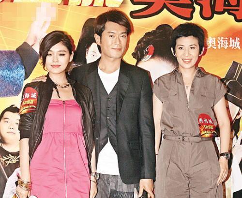 徐熙媛(左起)、古天乐与吴君如昨日到奥海城宣传新片。