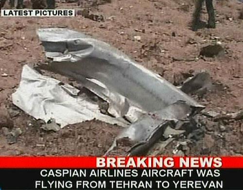 飞机坠毁地视频截图