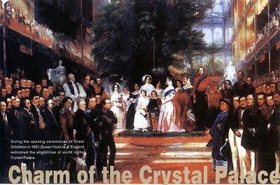 1851年世博会开幕式的油画作品