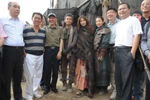 《刺陵》,由周杰伦(左四起)与林志玲挂帅,演员号召力十足。