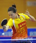 图文:乒超北京3-2险胜鲁能 彭陆洋回球有力