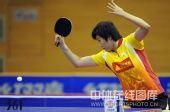 图文:乒超北京3-2险胜鲁能 李晓霞正手提拉