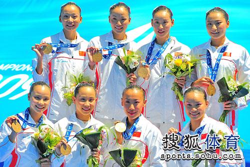 中国队颁奖瞬间