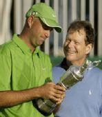 图文:2009英国公开赛决赛轮 辛克与老将沃森