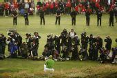 图文:2009英国公开赛决赛轮 辛克成为媒体焦点