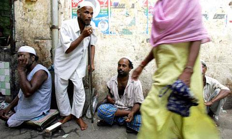 一些乞丐有时候一天能挣500卢比,比许多蓝领工人工资还要高