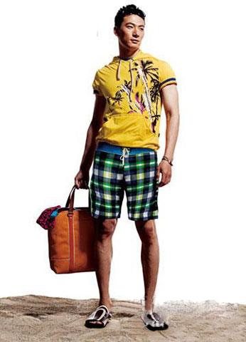 型男的沙滩短裤搭配绝学-男人频道