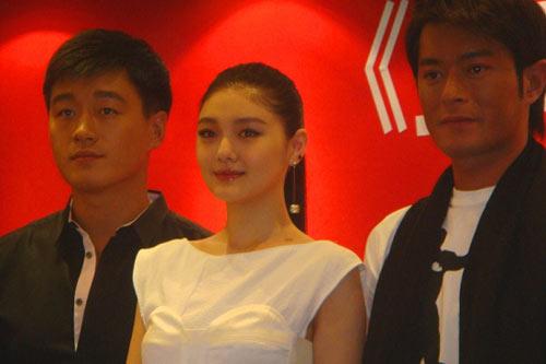 佟大为,大S和古天乐出席《灵灵狗》上海发布会