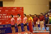 图文:张怡宁助北京3-1大同 升国旗奏国歌