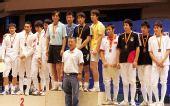 图文:全运预赛辽宁男重团体夺冠 三甲上领奖台