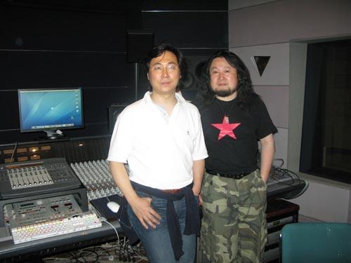 青年作曲家孟文豪与歌唱家廖昌永