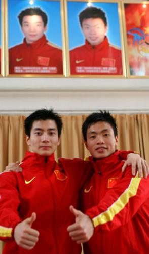 陶乐(左)、车磊荣登健美操世界冠军榜(摄影/张鑫明)