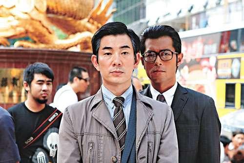 任贤齐(左)与古天乐(右)主演的港片《意外》入围本届威尼斯影展。