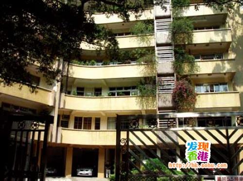 张爱玲在香港加多利山的故居,现在是张爱玲遗产继承人宋以朗先生的居住地。