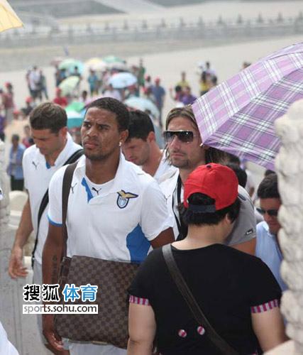 图文:拉齐奥球星畅游故宫 第一次来中国的腕儿