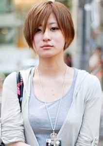 刘海也可以简单的分为三七开,当然小编也推荐中分的发型.图片