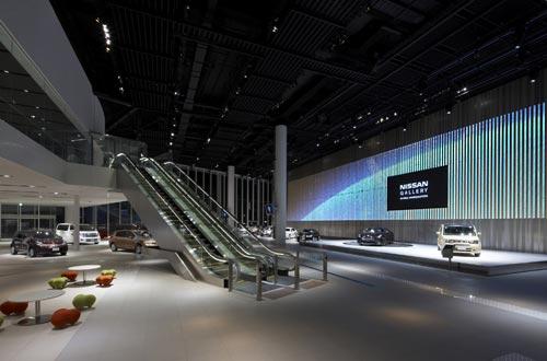 日产全球新总部展厅产品展示区