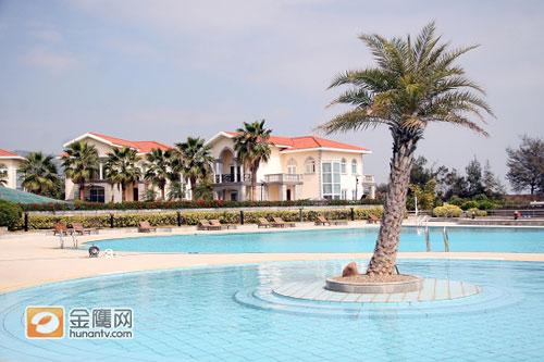 别墅区内的游泳池