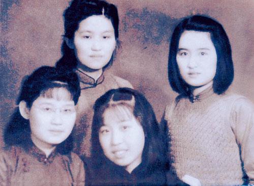 1941年(右一为张自忠女儿,右二为张廉琚)