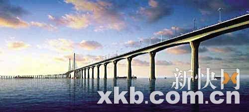 港珠澳大桥初露 真容 主体工程投366亿