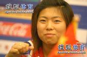 图文:[亚青赛]半决赛发布会 古雅莎微笑
