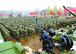 解放军四大军区今起举行跨区演习