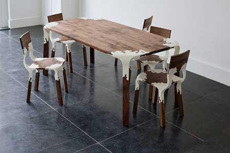 Alexander Pelican设计的限量版树脂桌椅
