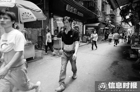 冼村是珠江新城内的城中村,目前住了4万多外来暂住人员。本版摄影 信息时报记者 巢晓