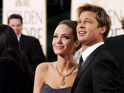 资料图:皮特和妻子安吉丽娜-朱莉