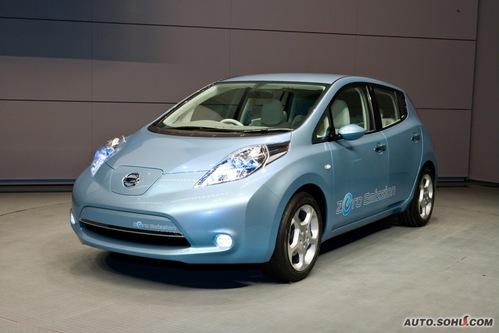 日产 Leaf EV 实拍 外观 图片