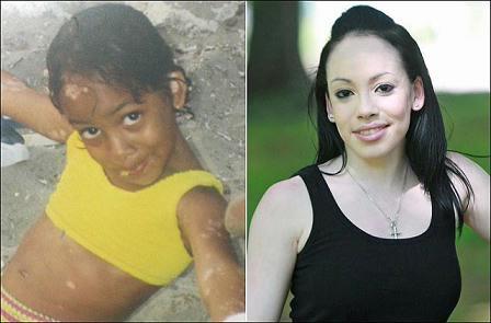 黑人美女戴瑟尔白人11岁小女孩mm照片