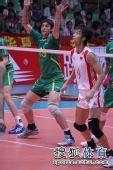 图文:中国男排3-1澳大利亚 选手严阵以待