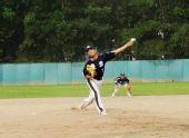 图文:亚洲棒球邀请赛 广东队投手投球