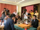 图文:中韩天元对抗同里开战 比赛吸引众多媒体