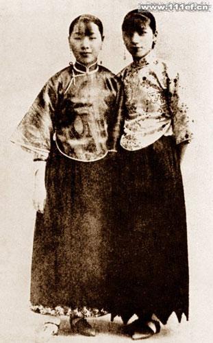 西风渐进中的民国初年女性服饰图片