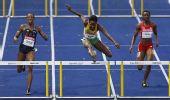 图文:世锦赛女子400米栏决赛 沃尔克正在跨栏