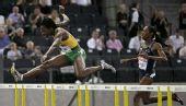 图文:世锦赛女子400米栏决赛 沃尔克跨栏瞬间