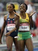 图文:世锦赛女子400米栏决赛 沃尔克难掩兴奋